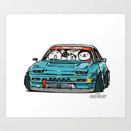 Crazy Car Art 0156 Art Print
