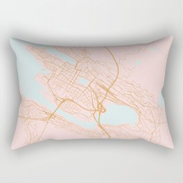 Bergen map, Norway Rectangular Pillow