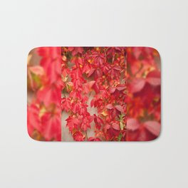 Vitaceae ivy wall abstract Bath Mat