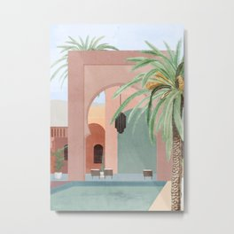 Moroccan Pool Metal Print