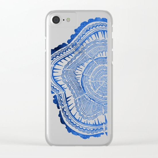 Growth Rings – 65 Years – Navy Clear iPhone Case