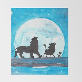 The Lion King Stencil Throw Blanket