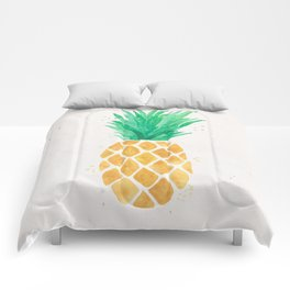Watercolor Pineapple Comforters