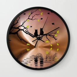 Springtime Love Wall Clock
