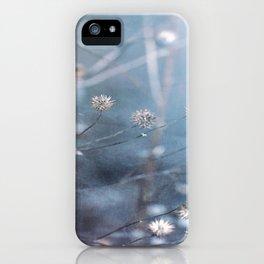Dusty Fog Flowers iPhone Case