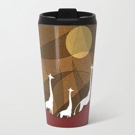 Beautiful warm giraffe family design Travel Mug