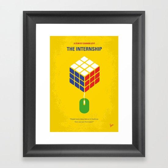 No215 My The Internship minimal movie poster Framed Art Print