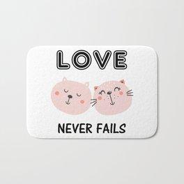 Love Never Fails Two Cats Bath Mat