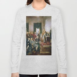The Signing of the Constitution of the United States - Howard Chandler Christy Long Sleeve T-shirt
