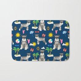 Schnauzer dog breed summer tropical dog pattern gifts schnauzers Bath Mat