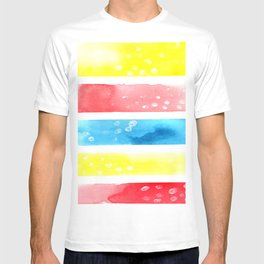 Simple Colors Abstract Watercolor T-shirt