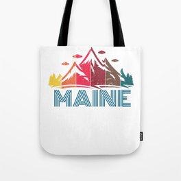 Retro Maine Mountain Design for Men Women and Kids Tote Bag