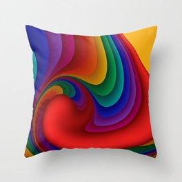 fluid -37c- Throw Pillow