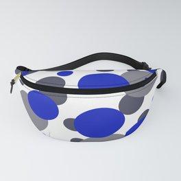 Bubbles blue grey- white design Fanny Pack