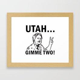 Gimme Two Framed Art Print