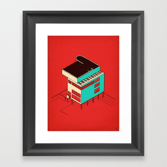Music & Architecture Framed Art Print
