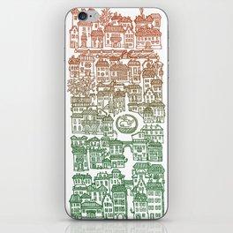 Autumn city iPhone Skin