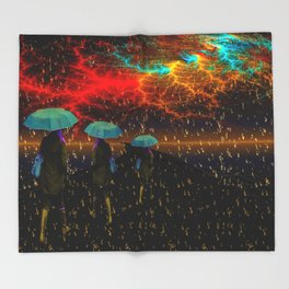 Radioactive rain Throw Blanket