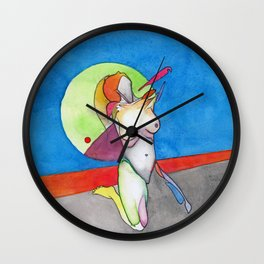 The Thrill, nude female figure, NYC artist Wall Clock