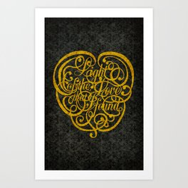 Light of the Love version 2 Art Print
