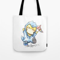 projectrocket Tote Bags featuring Psy of Relief by Randy C