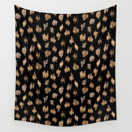 Strokes of brown paint Wall Tapestry