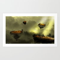 Floating Isle  Art Print