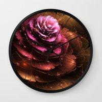 valentine Wall Clocks featuring Valentine by Eli Vokounova