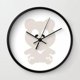 Cross Eyed BEAR Wall Clock