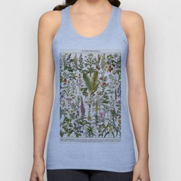 Adolphe Millot - Plantes Medicinales B - French vintage poster Unisex Tank Top