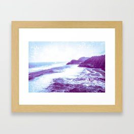 Vintage Coastal Sea Framed Art Print