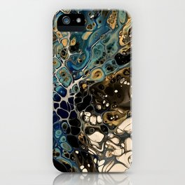 Teal Burst iPhone Case