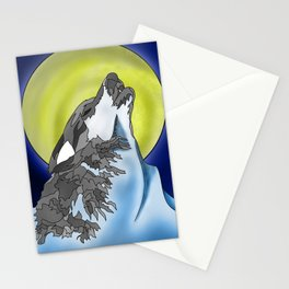 The howling Mountain Stationery Cards