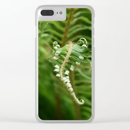 Unfurling Fern Clear iPhone Case