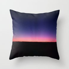 galaxy sunset Throw Pillow