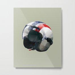 Tag Heuer Steve McQueen Cafe Racer Helmet Polygon Art Metal Print