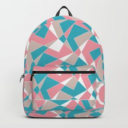 Broken Pattern (Pink-Turquoise) Backpack