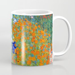 Gustav Klimt Flower Garden Kaffeebecher