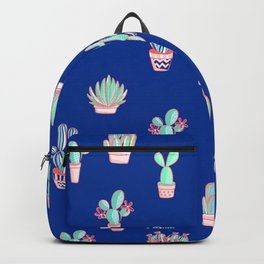 Little cactus pattern - Princess Blue Backpack