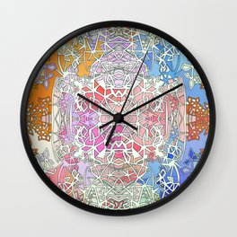Abstract Sunset Fairy Forest Wall Clock