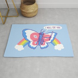 Butterfly Knife Rug