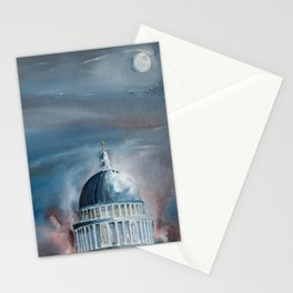 St Paul's Cathedral London lit by the Full Moon Stationery Cards
