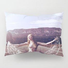 Nude Woman Splashing in the Road Pillow Sham