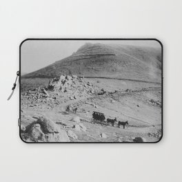 """Buckboard and coaches zigzagging down the """"W"""" Pike's Peak carriage road, Colorado, 1911 Laptop Sleeve"""