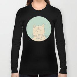 Cartoon cute cat think Long Sleeve T-shirt