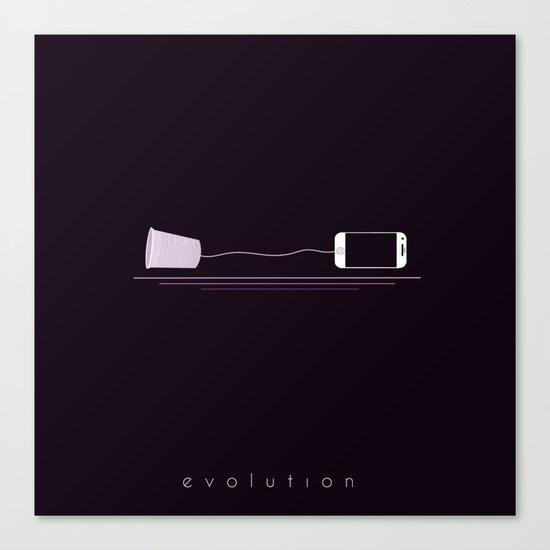 PHONE EVOLUTION Canvas Print