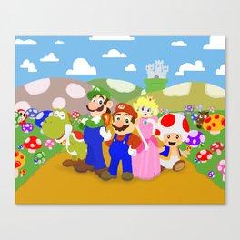 Mario & friends Canvas Print