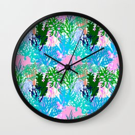 Coral Collection in Light Multi + White Wall Clock