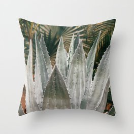 Deep Agave Throw Pillow