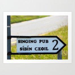 Craic agus Ceol Donegal Art Print